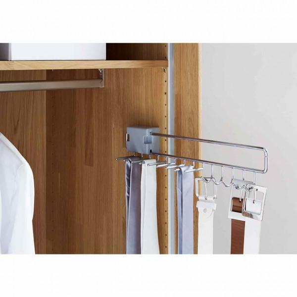 Wöstmann WSM 2300 Krawatten- und Gürtelhalter für Kleiderschrank